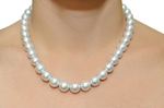 10-11.5mm White South Sea Pearl Necklace - AAAA Quality VENUS CERTIFIED - Model Image