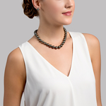 10-11mm Tahitian South Sea Pearl Necklace - AAAA Quality - Model Image