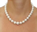 10-12mm White South Sea Pearl Necklace - AAA Quality - Secondary Image