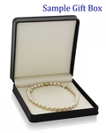 11-13mm Golden South Sea Pearl Necklace - AAA Quality - Model Image