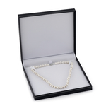 11-12mm White Freshwater Pearl Necklace- AAAA Quality - Third Image