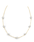 Japanese Akoya Pearl Tincup Necklace - Secondary Image