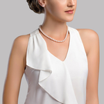 7.0-7.5mm Japanese Akoya White Pearl Necklace- AAA Quality - Secondary Image