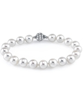 7-8mm White Freshwater Pearl Bracelet - AAAA Quality