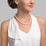8.0-8.5mm Japanese Akoya White Pearl Necklace- AAA Quality - Secondary Image