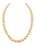 8-10mm Golden South Sea Pearl Necklace - AAA Quality