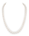 8-9mm White Freshwater Pearl Necklace - AAAA Quality