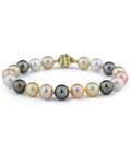 9-10mm South Sea & Freshwater Multicolor Bracelet - AAA Quality - Model Image
