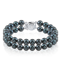Japanese Akoya Black Double Pearl Bracelet - Various Sizes