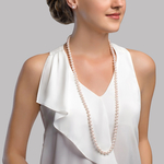 9-10mm Opera Length Freshwater Pearl Necklace - Secondary Image