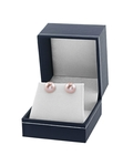 10mm Pink Freshwater Pearl Stud Earrings - Fourth Image