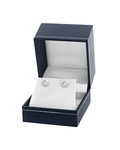 8mm White Freshwater Studs - Premiere Quality - Fourth Image