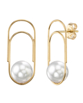 White South Sea Pearl Sabrina Earrings - Third Image