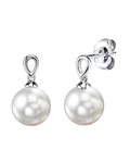 White South Sea Pearl Sherry Earrings
