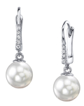 South Sea Pearl & Diamond Susan Earrings