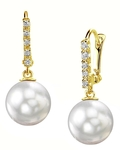 South Sea Pearl Britney Earrings - Model Image