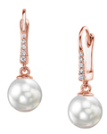 South Sea Pearl & Diamond Susan Earrings - Third Image