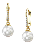 South Sea Pearl & Diamond Susan Earrings - Secondary Image