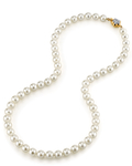 7.0-7.5mm Japanese Akoya White Pearl Necklace- AAA Quality - Third Image