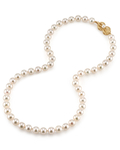 7.5-8.0mm Japanese Akoya White Pearl Necklace- AA+ Quality - Secondary Image