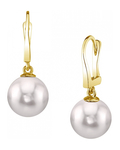 Japanese Akoya Pearl Classic Elegance Earrings - Model Image
