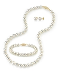 7.0-7.5mm Japanese Akoya White Pearl Set - Secondary Image