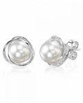 White South Sea Pearl and Diamond Lexi Earrings