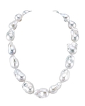 13-16mm Freshwater White Baroque Pearl Necklace - AAA Quality