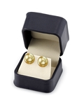 14mm Golden South Sea Pearl Stud Earrings- Choose Your Quality - Secondary Image