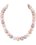 12-13mm Freshwater Multicolor Pearl Necklace - AAAA Quality
