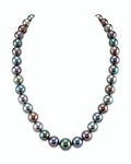 9-11mm Tahitian South Sea Multicolor Pearl Necklace