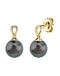 Tahitian South Sea Pearl Sherry Earrings - Model Image