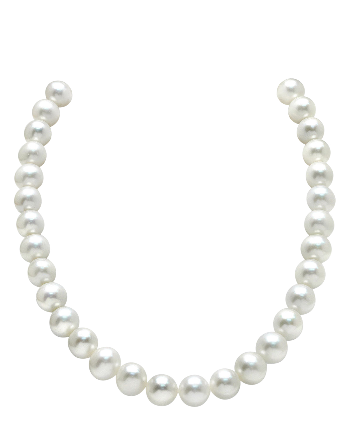 11-12mm White Freshwater Pearl Necklace- AAAA Quality