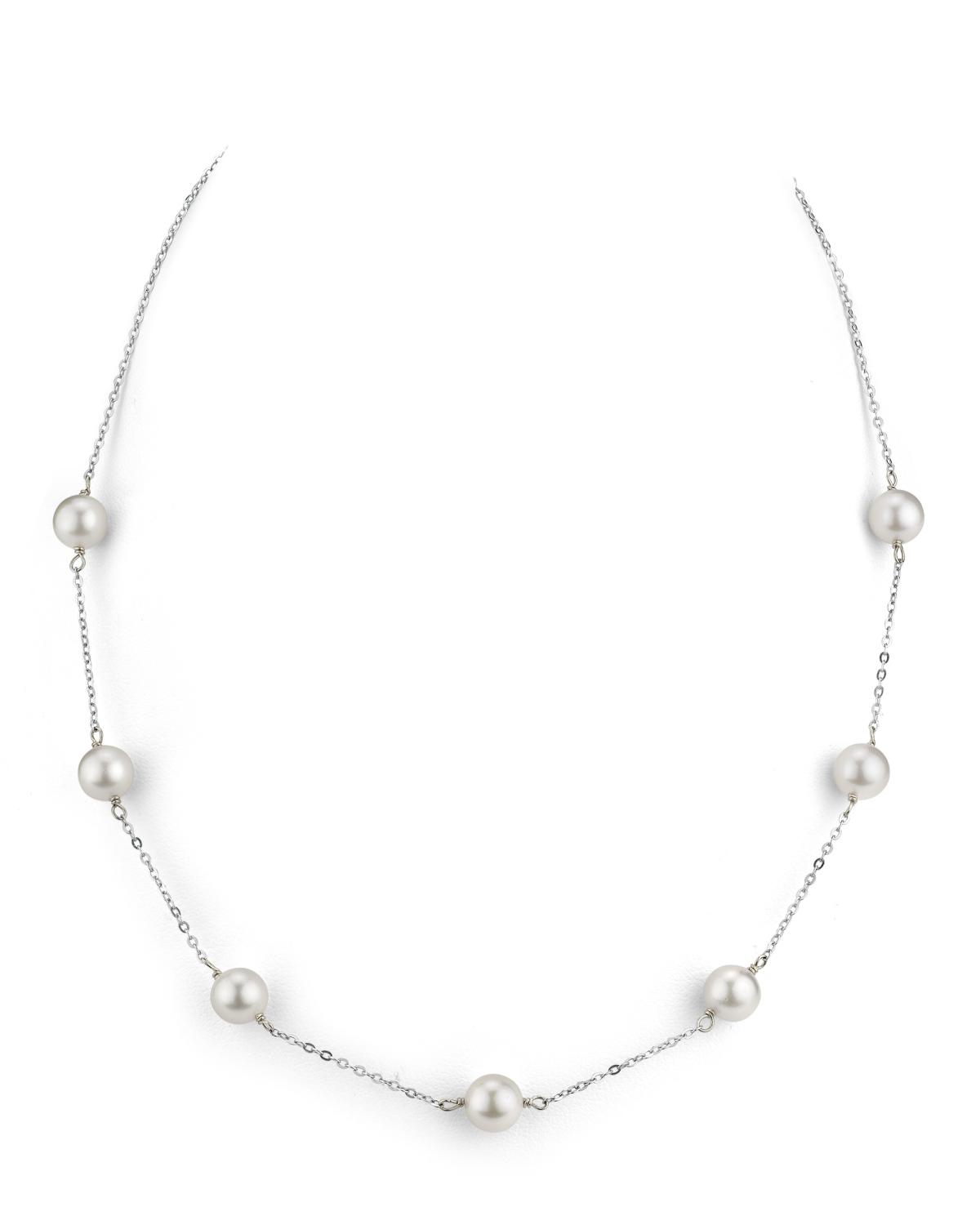 Japanese Akoya Pearl Tincup Necklace
