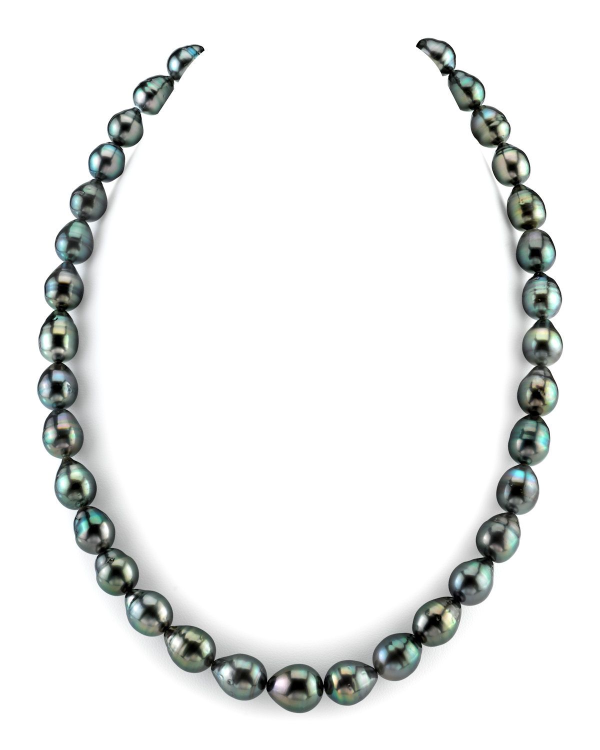 8-10mm Dark Tahitian South Sea Baroque Pearl Necklace