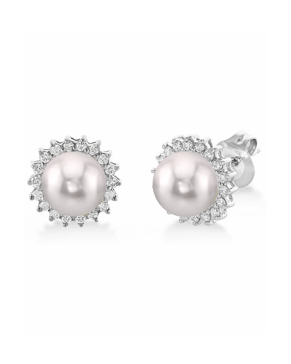 Akoya Pearl & Diamond Tessie Earrings