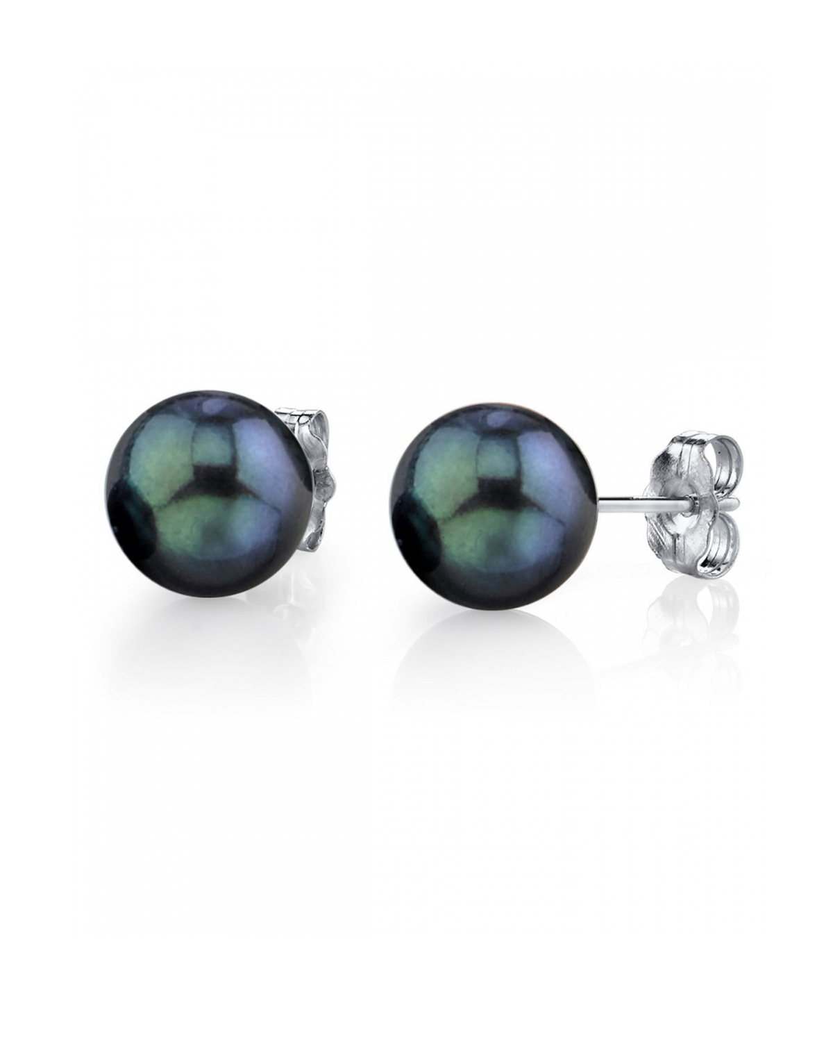 8.5-9.0mm Black Akoya Pearl Stud Earrings