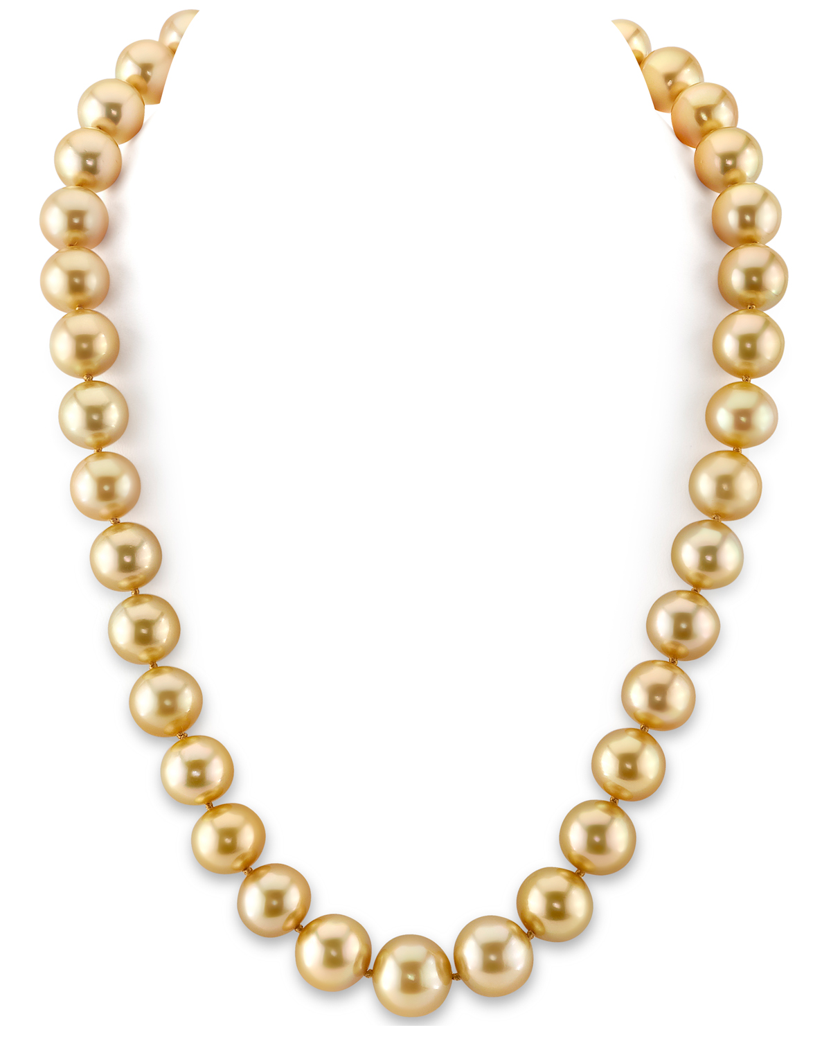 11-13mm Golden South Sea Pearl Necklace - AAA Quality